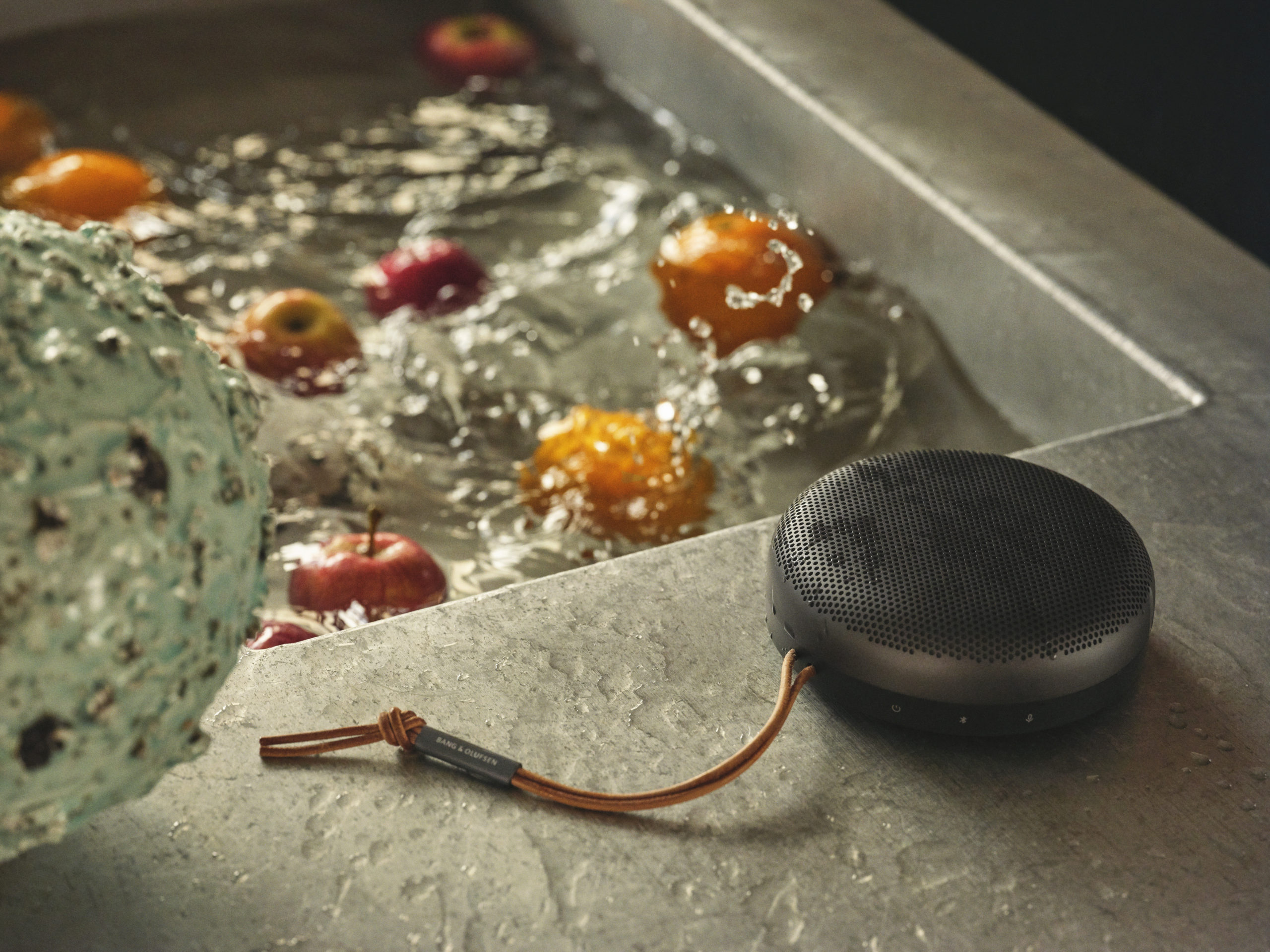 Bang & Olufsen Beosound A1 Bluetooth smart speaker press image courtesy of Bang & Olufsen
