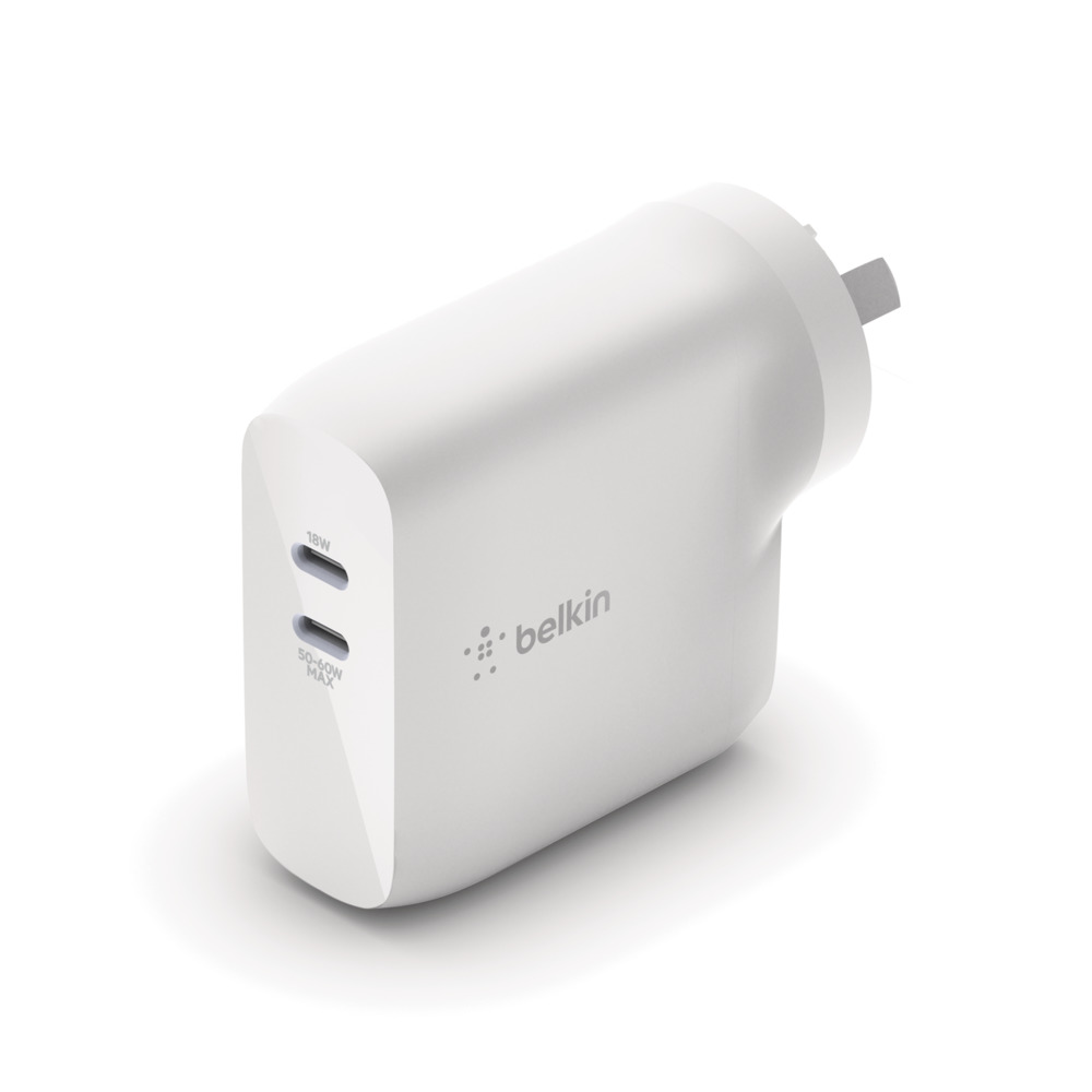 Belkin BOOST Charge 68W GaN Dual USB-C Wall Charger (Australasia) product picture courtesy of Belkin