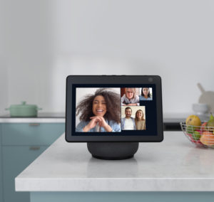 Amazon Echo Show 10 in videocall - press image courtesy of Amazon