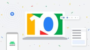 Google Chrome OS 10th Birthday artwork image courtesy of Google